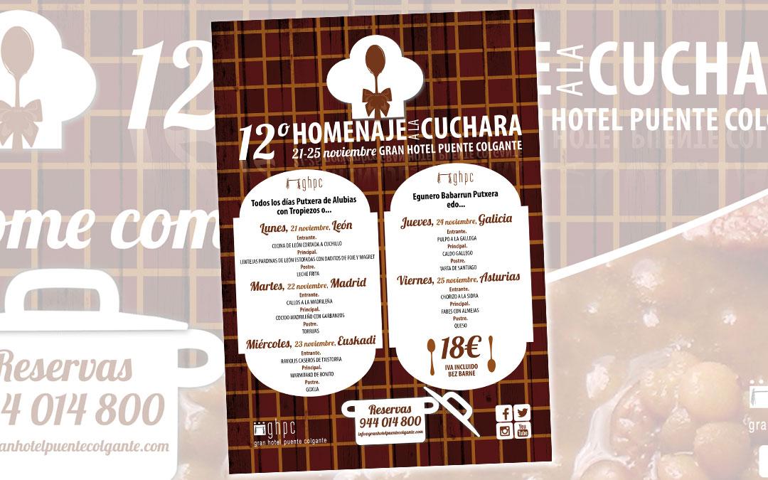 Creamos la imagen del «12º Homenaje a la cuchara» del Gran Hotel Puente Colgante