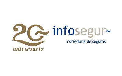 Diseñamos el logotipo de Infosegur para su 20 aniversario