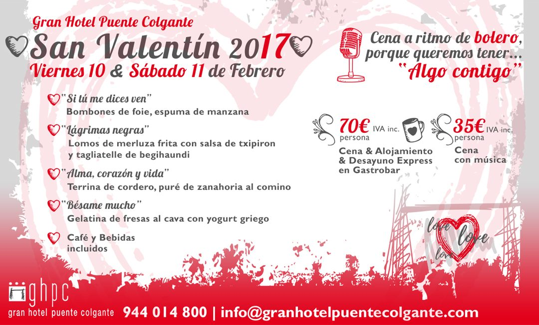Diseñamos la imagen para el San Valentín del Gran Hotel Puente Colgante