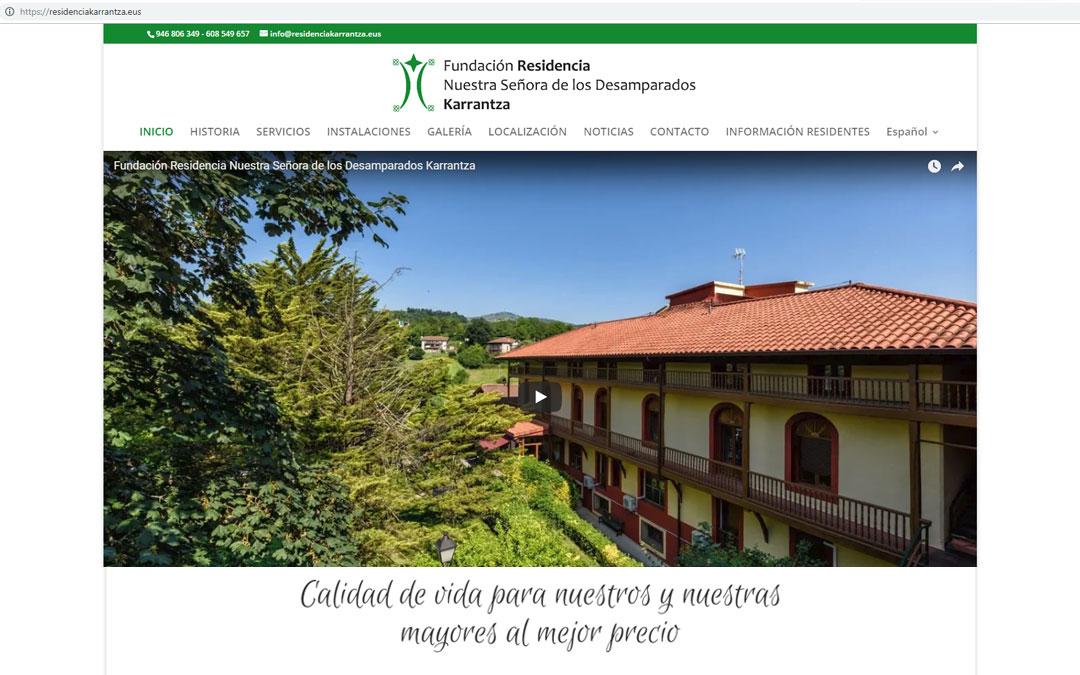 Estrenando la renovada imagen y nuevos soportes promocionales de Residencia Karrantza