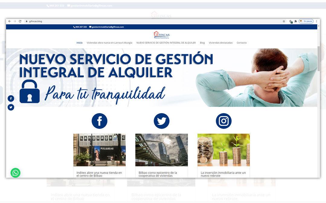 Diseño de blog y lanzamiento de newsletters para Gi Fincas Gestión Inmobiliaria