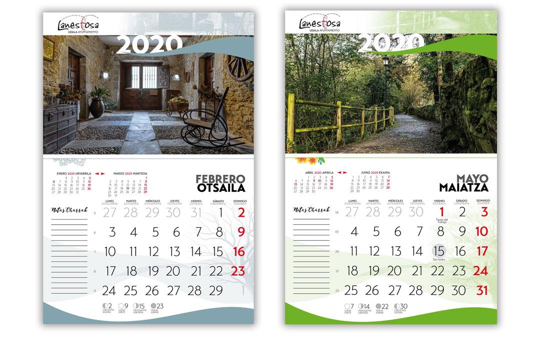 Diseño calendario Ayuntamiento de Lanestosa