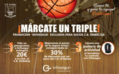 Diseño de la campaña 'Márcate un triple' para Infosegur