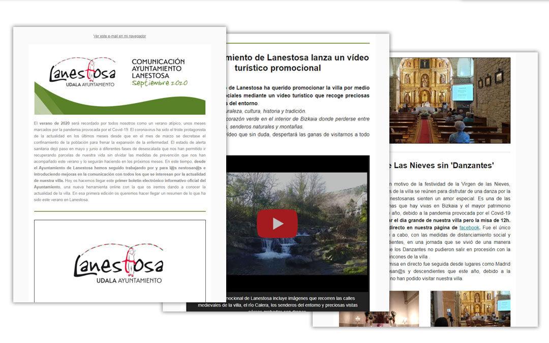 Lanzamiento del Boletín Electrónico informativo oficial del Ayuntamiento de Lanestosa