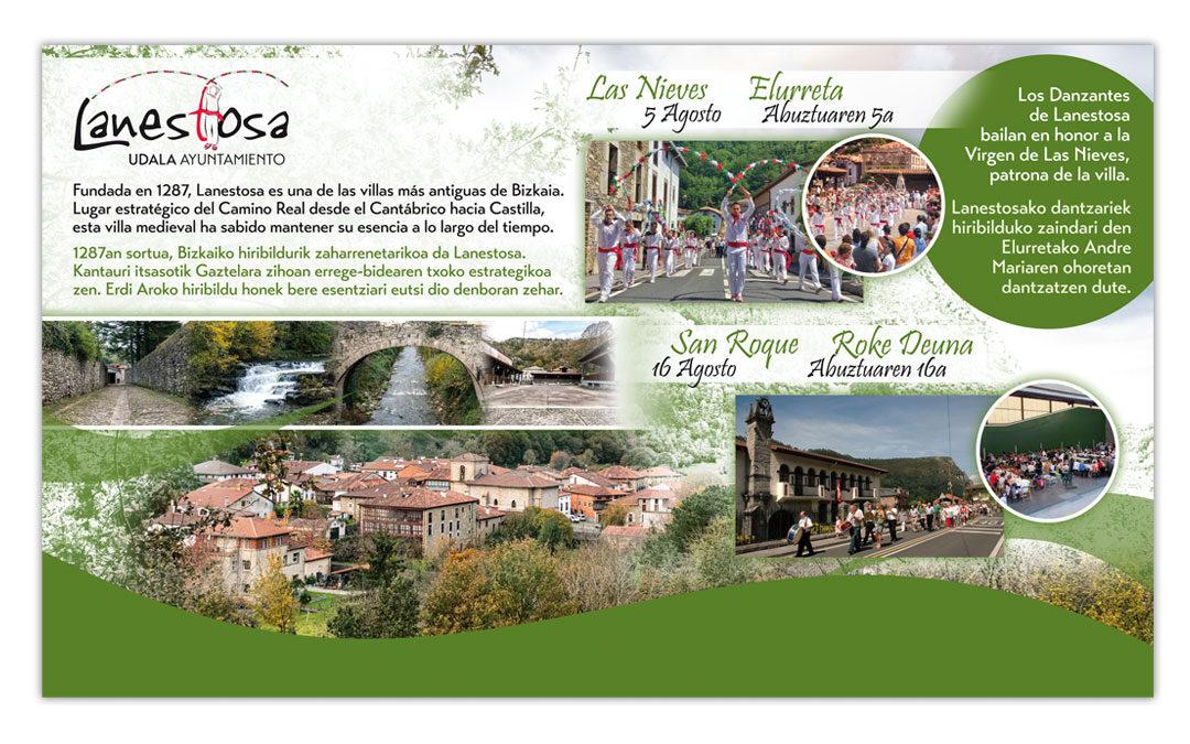 Creación de panel informativo para el Ayuntamiento de Lanestosa