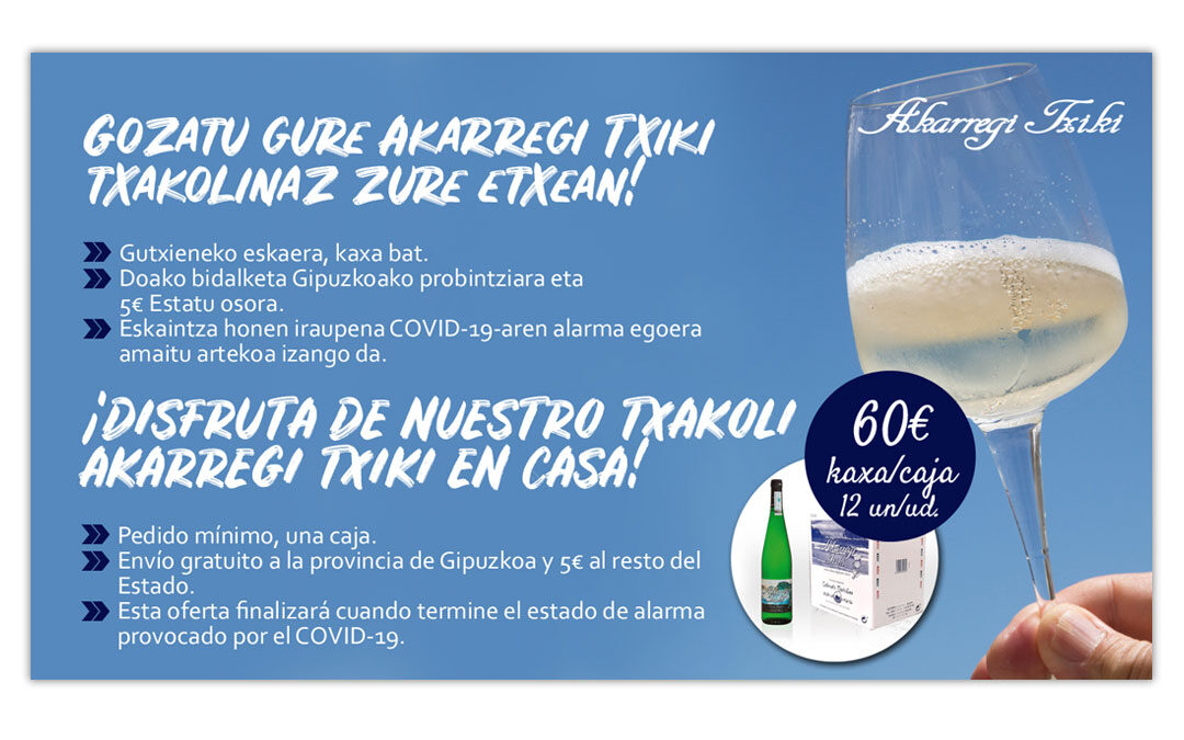 Diseño de promoción online para la Bodega Akarregi Txiki